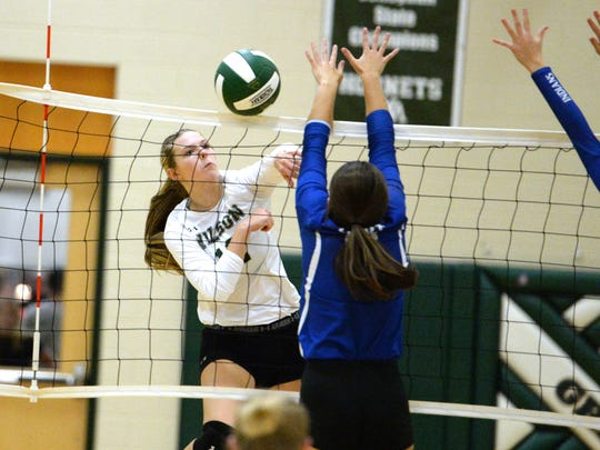 Paris Hutchinson, a junior at Wilson Memorial, had 300 kills, 364 assists and 174 digs for the Hornets this season.