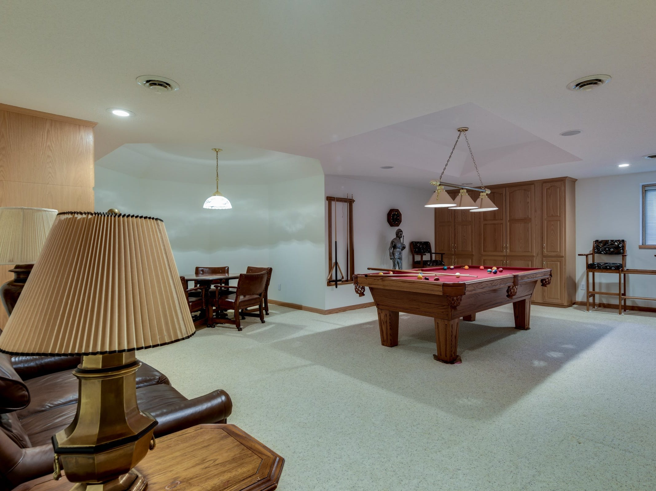 The home also has a game room.