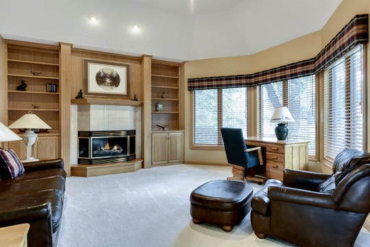 The lower level features a large family room.
