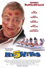 """The poster for Rodney Dangerfield's 2000 movie """"My 5 Wives."""""""