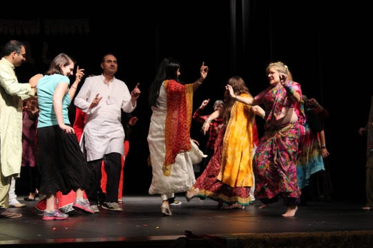 Audience members participate in Bollywood dancing at a past Festival of India in Stevens Point.