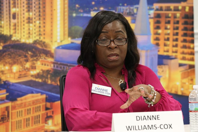 Dianne Williams-Cox, City Commission Seat 5 candidate speaks at the editorial board meeting held on September 25, 2018.