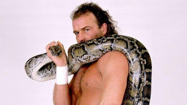 """Jake """"The Snake"""" Roberts is shown during his prime as a professional wrestler."""
