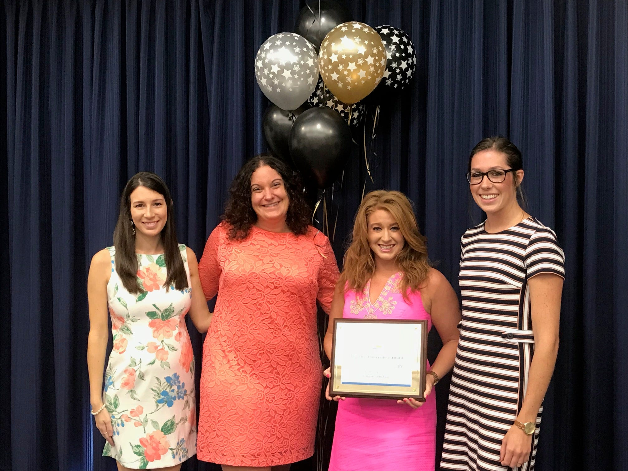 Home Instead Senior Care of Vero Beach was named Large Company of the Year -- Emily Hinson, Gina Derosa, Erica Vezza and Laura Gasbarrini