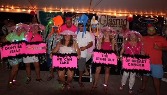 "The winners of the costume contest were the ""Jellyfish"" from the Floridian."