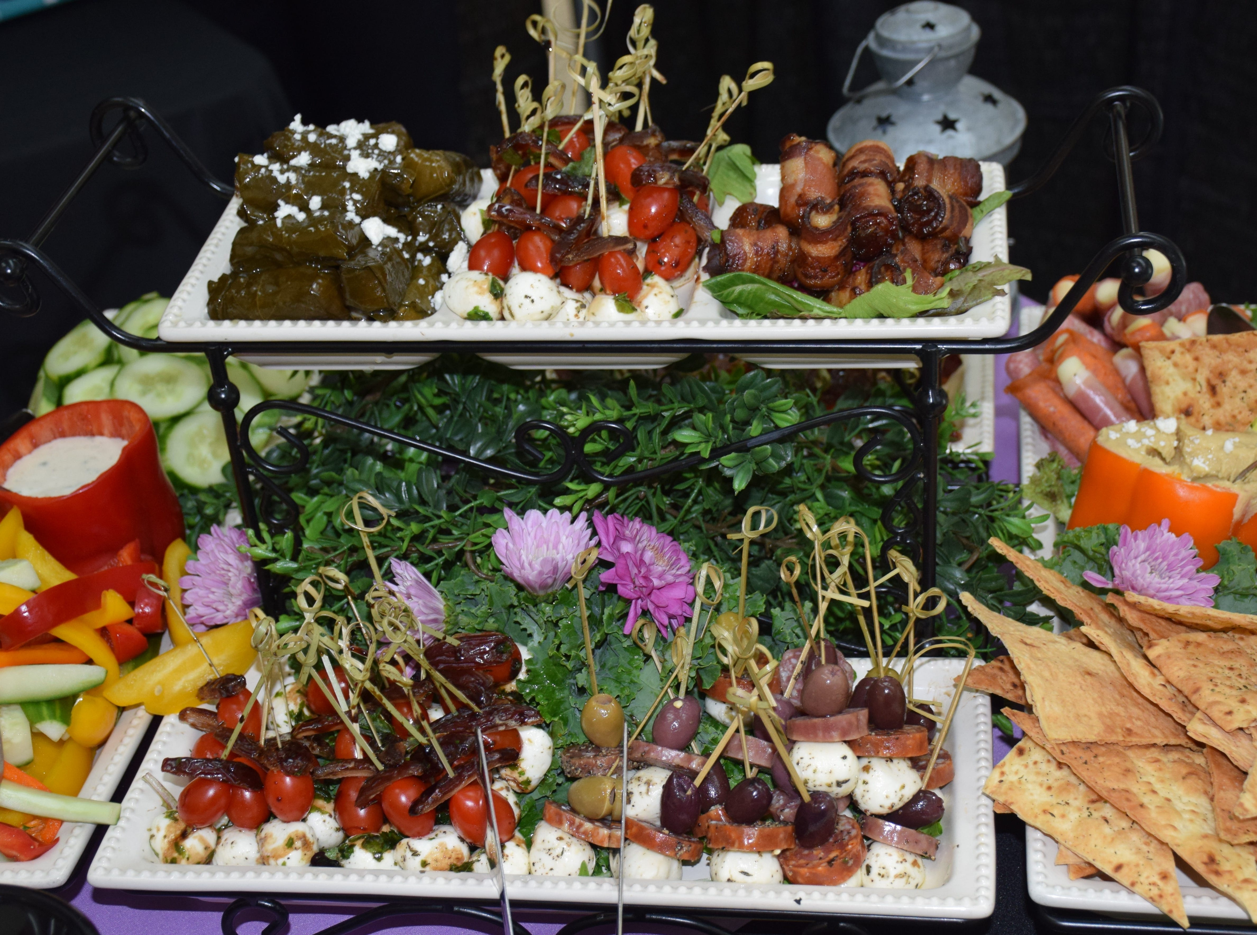 Food Platter Display By Wild Thyme catering.