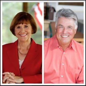 Candidates for Florida Senate District 25 Gayle Harrell (left) and Robert Levy.