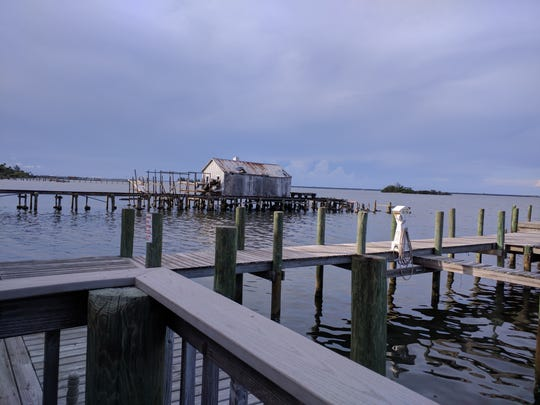 View from the deck at Capt'n Butcher's Seafood Grill & Bar in Sebastian.