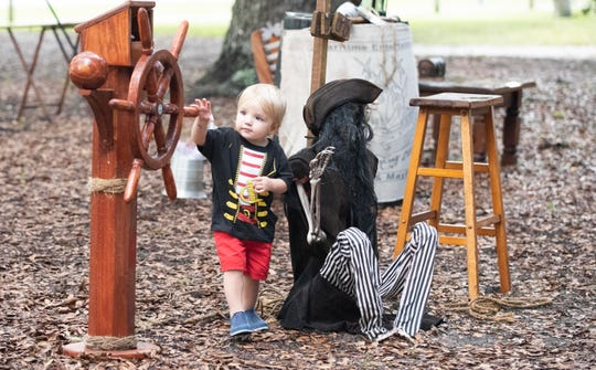 The fourth annual Vero Beach Pirate Festival brought the community together on Saturday, September 22, 2018, at Riverside Park in Vero Beach. The event included live music, living history encampments, pirate weapon displays, treasure hunts, mermaids, costume contests and various food and gift vendors. It continues Sunday from 10 a.m. to 4 p.m. Admission is free, but a $2/person contribution is recommended. Kids can play all day in a children's zone with a $10 wristband. Proceeds benefit the Rotary Club of Vero Beach Sunrise Foundation.