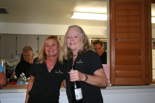 Kerri Dolan, Windsor Imaging marketing director, and Deby Duke, president of Windsor Community Angels and practice manager for Windsor Imaging, at the Inaugural Bubbles for Boobies wine tasting event earlier this year.