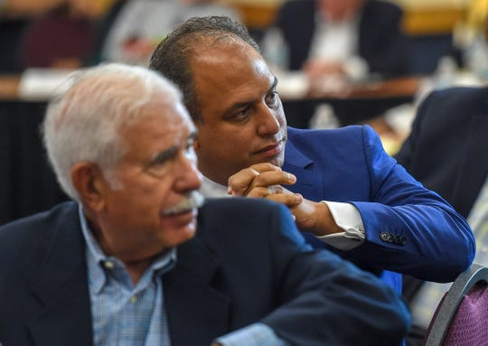 Cleveland Clinic of Florida CEO and president Dr. Wael Barsoum listens to comments from Indian River County residents Tuesday, Sept. 25, 2018, at the conclusion of a meeting to explain and discuss the final stages of a deal involving the Cleveland Clinic's partnership with the Indian River Medical Center at the Richardson Center at Indian River State College's Mueller Campus in Vero Beach. The Indian River Medical Center Board of Directors, Indian River County Hospital District Board of Trustees, representatives of the Cleveland Clinic Foundation, attorneys, and IRC residents discussed the details of the partnership, the process leading up to it's finalization, and the expected future outcomes for the community. To see more photos, go to TCPalm.com.