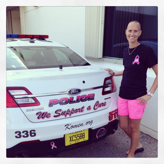 Local Port St. Lucie Police Officer and five-year breast cancer survivor Janet Palmer is president of Random Acts of Pink.