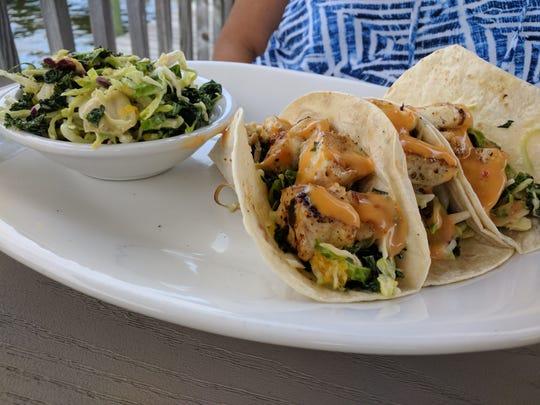 Fish tacos at Capt'n Butcher's Seafood Grill & Bar in Sebastian.