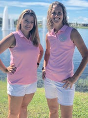 Kayla Walsh, left, vice president of Random Acts of Pink, and Janet Palmer, president of Random Acts of Pink.
