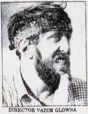 """Vadim Glowna, director of """"Dies rigorose Leben,"""" filmed in El Paso in 1982."""