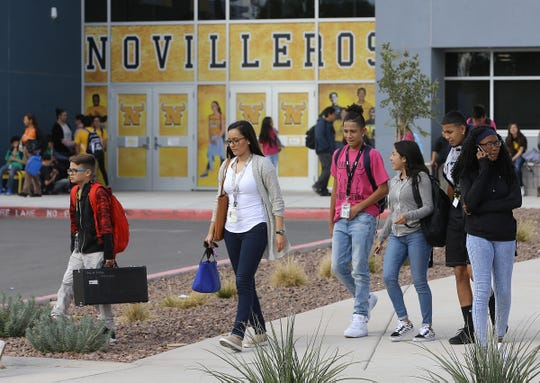 Students leave Parkland Middle School after classes Tuesday. A seventh grade girl is alleging she was raped in a locker room at the school.