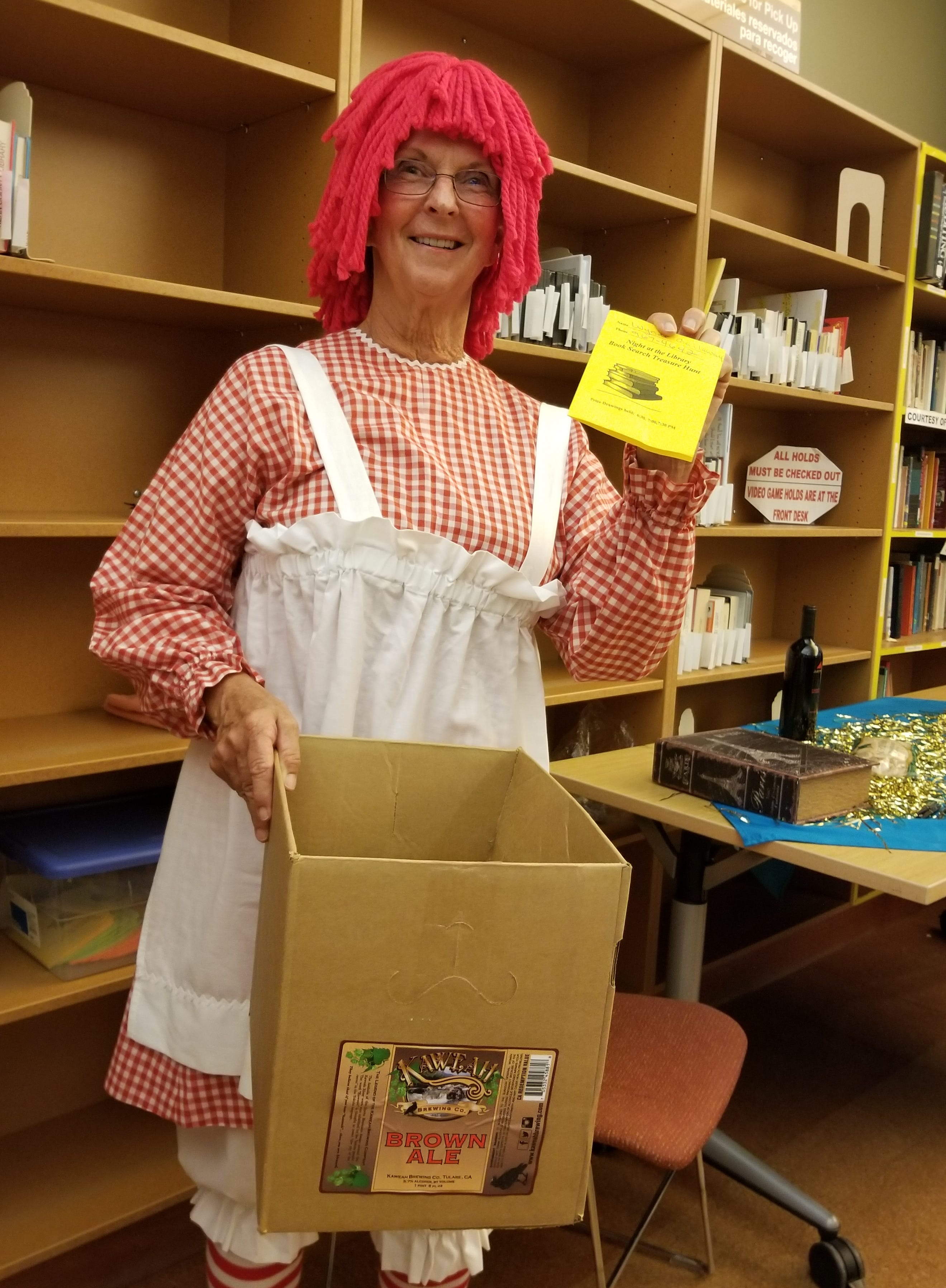 Raggedy Ann draws a winner at Tulare Public Library's 'Night at the Library' fundraiser