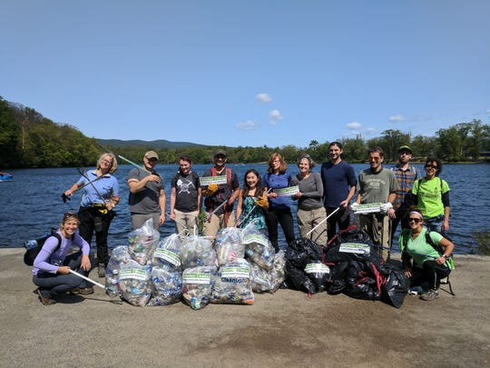 A photos from 2017 Bear Mountain Cleanup with Keep Rockland Beautiful and the New York-New Jersey Trail Conference.  The two not-for-profit organizations join forces to clean up Bear Mountain State Park each fall.