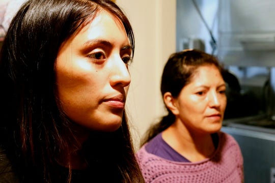Gloria Guambana and her mother Maria Tenesaca talk about the immigration status of her parents at the South Presbyterian Church in Dobbs Ferry on Sept. 25, 2018.