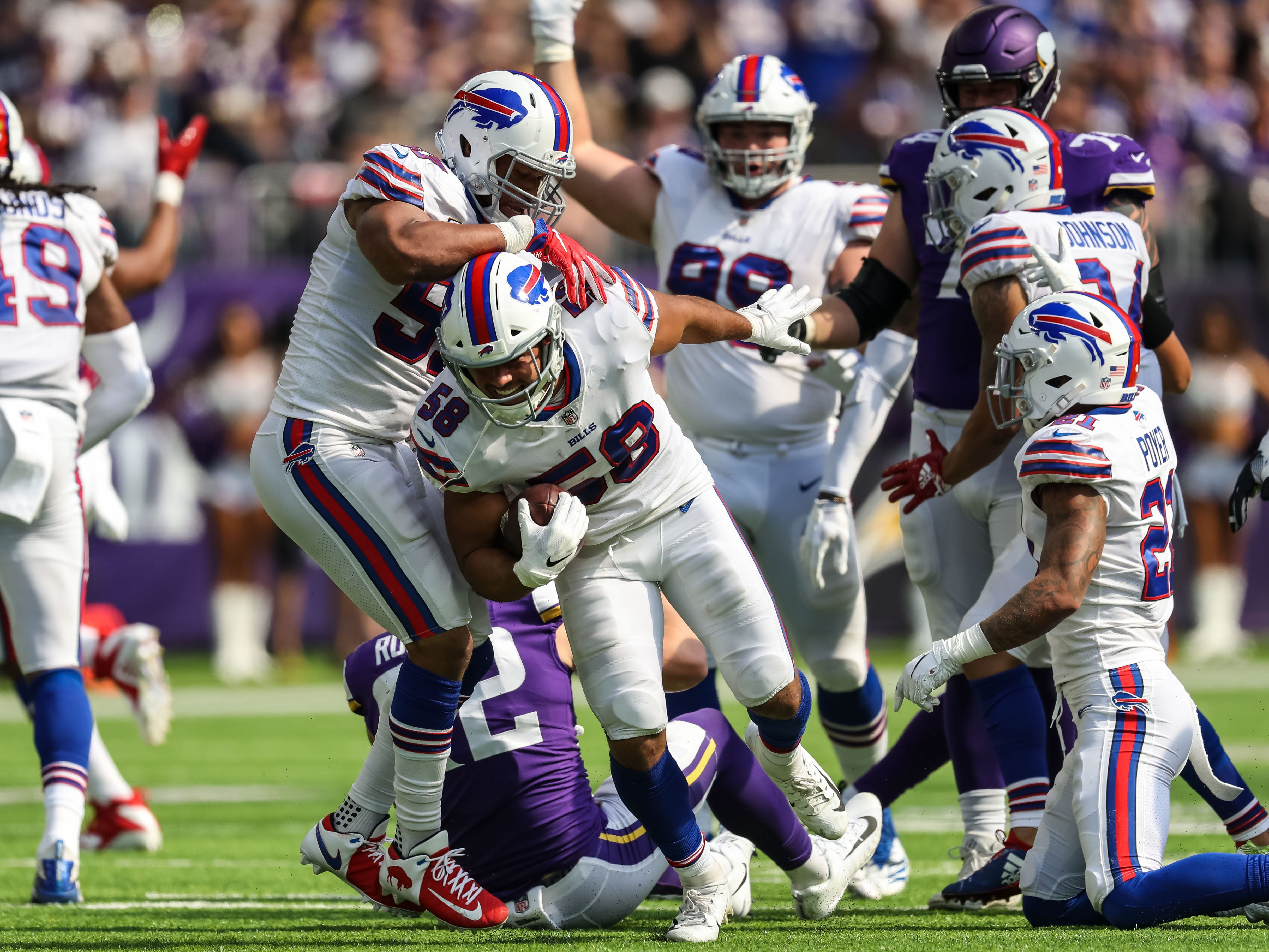 26. Bills (31): With Vontae Davis on team, they were outscored 75-9. Since he retired, they're up 41-9. So ... on pace for good season as long as he's gone.