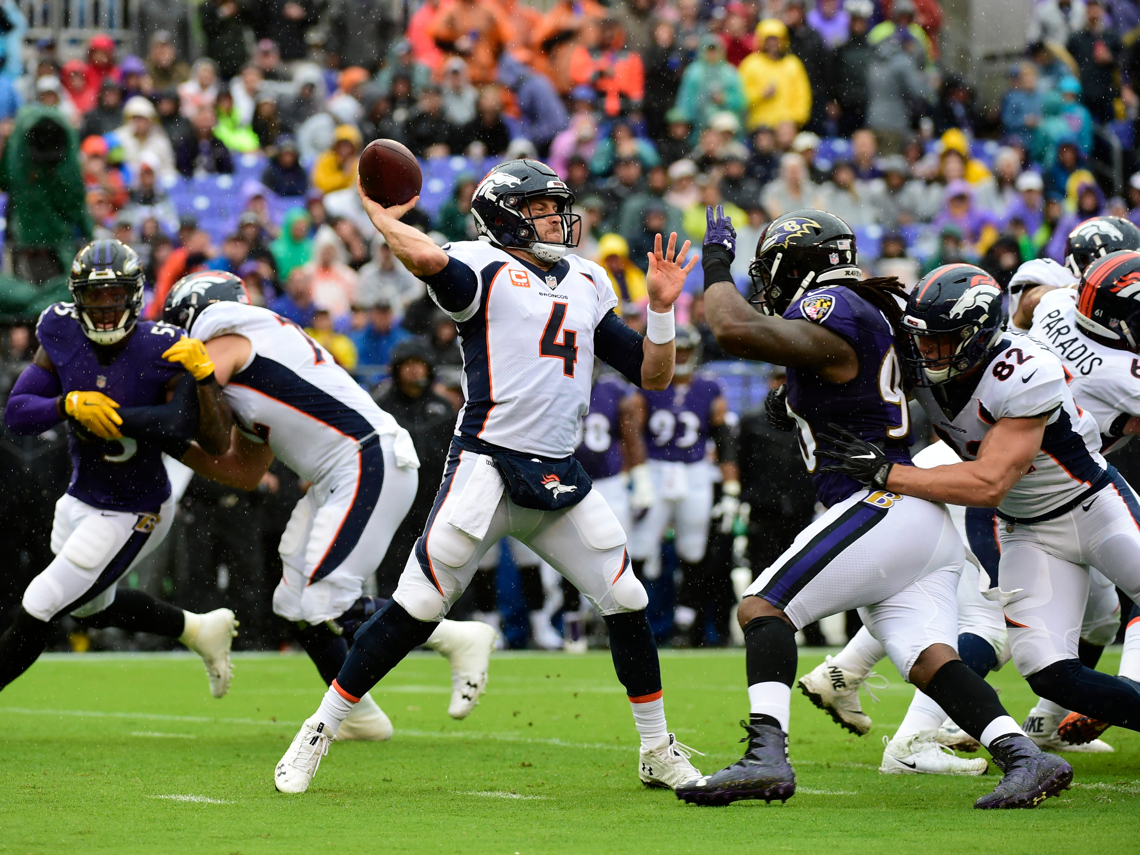 21. Broncos (14): Case Keenum among five QBs on pace to lead league with 27 INTs, though he's lowest rated (71.6), which would be worst of checkered career.