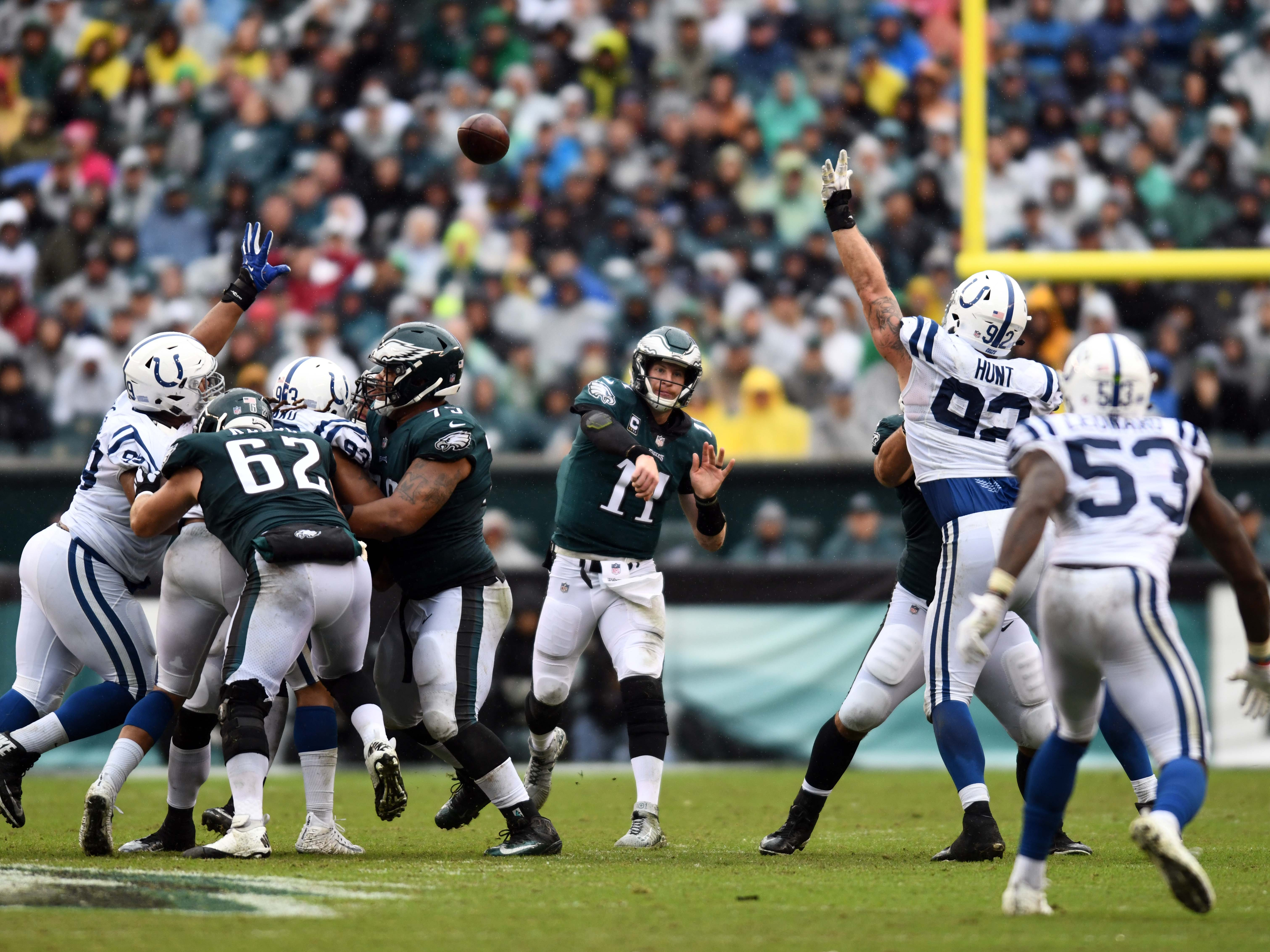 5. Eagles (7): Carson Wentz on pace to win every start of 2018, though it's unclear if that will extend to 2019 and a successful title defense.
