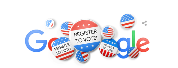 Reminders to register to vote are all across the internet, including on Google.