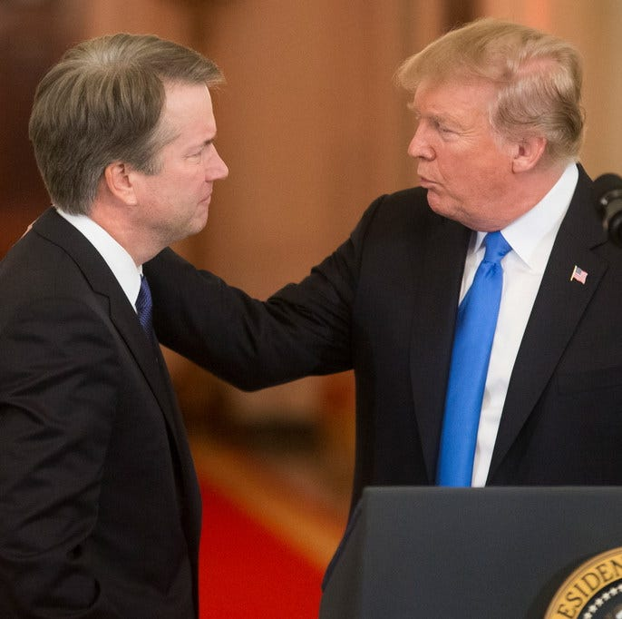 Deny and defend: Trump is in his comfort zone on Kavanaugh sexual misconduct claims