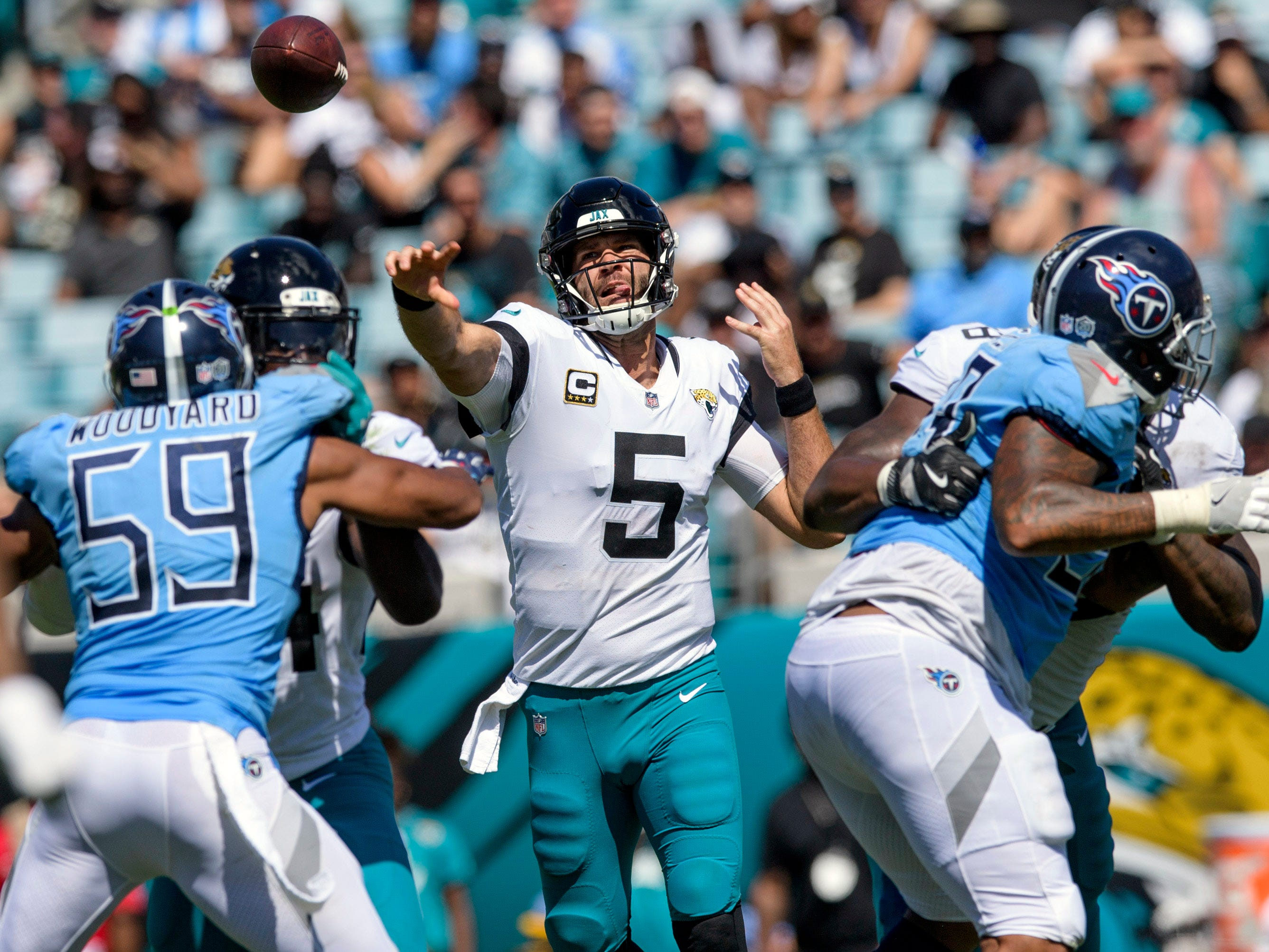 8. Jaguars (1): Hey, @BortlesFacts, your boy is on pace to go 0-6 against the AFC South this year, which could make it tough to reach Super Bowl LIII.