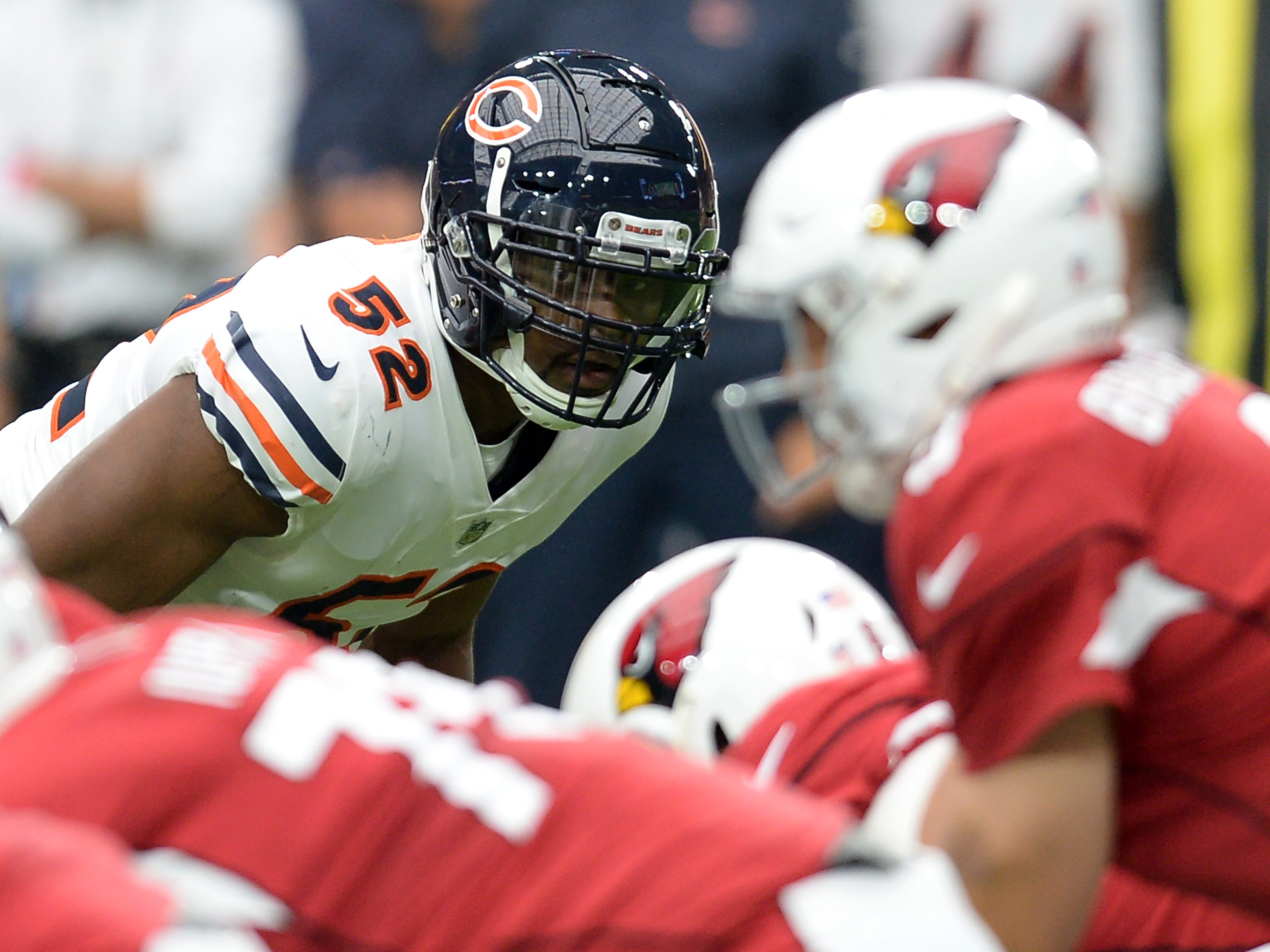 18. Bears (15): Khalil Mack among four players on pace to collect 21½ sacks this season. Meanwhile, Raiders on pace to collect league-low 16 collectively.