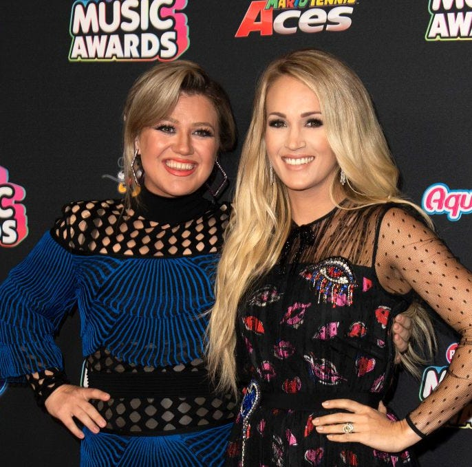 Kelly Clarkson and Carrie Underwood.