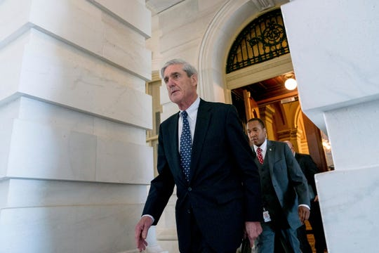 FBI Director Robert Mueller, the special counsel probing Russian interference in the 2016 election, departs Capitol Hill on June 21, 2017.