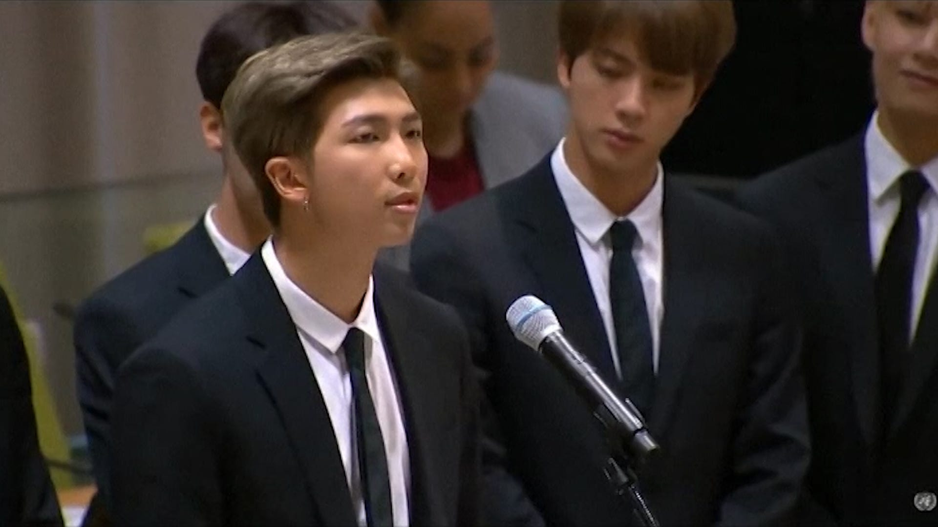K-Pop member delivers emotional speech to United Nations