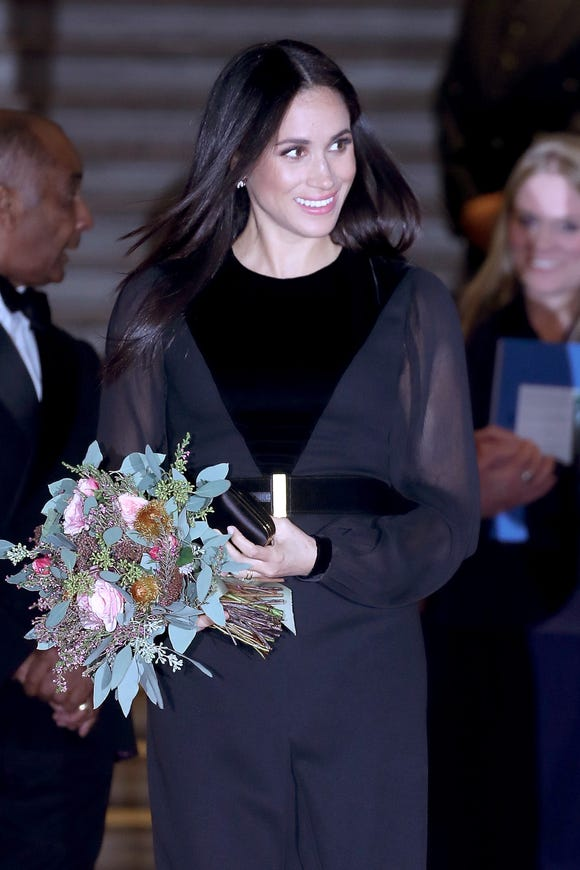 What would a royal outing be without a beautiful bouquet of flowers?
