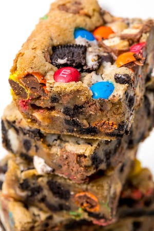 Put your leftover candy in bars.