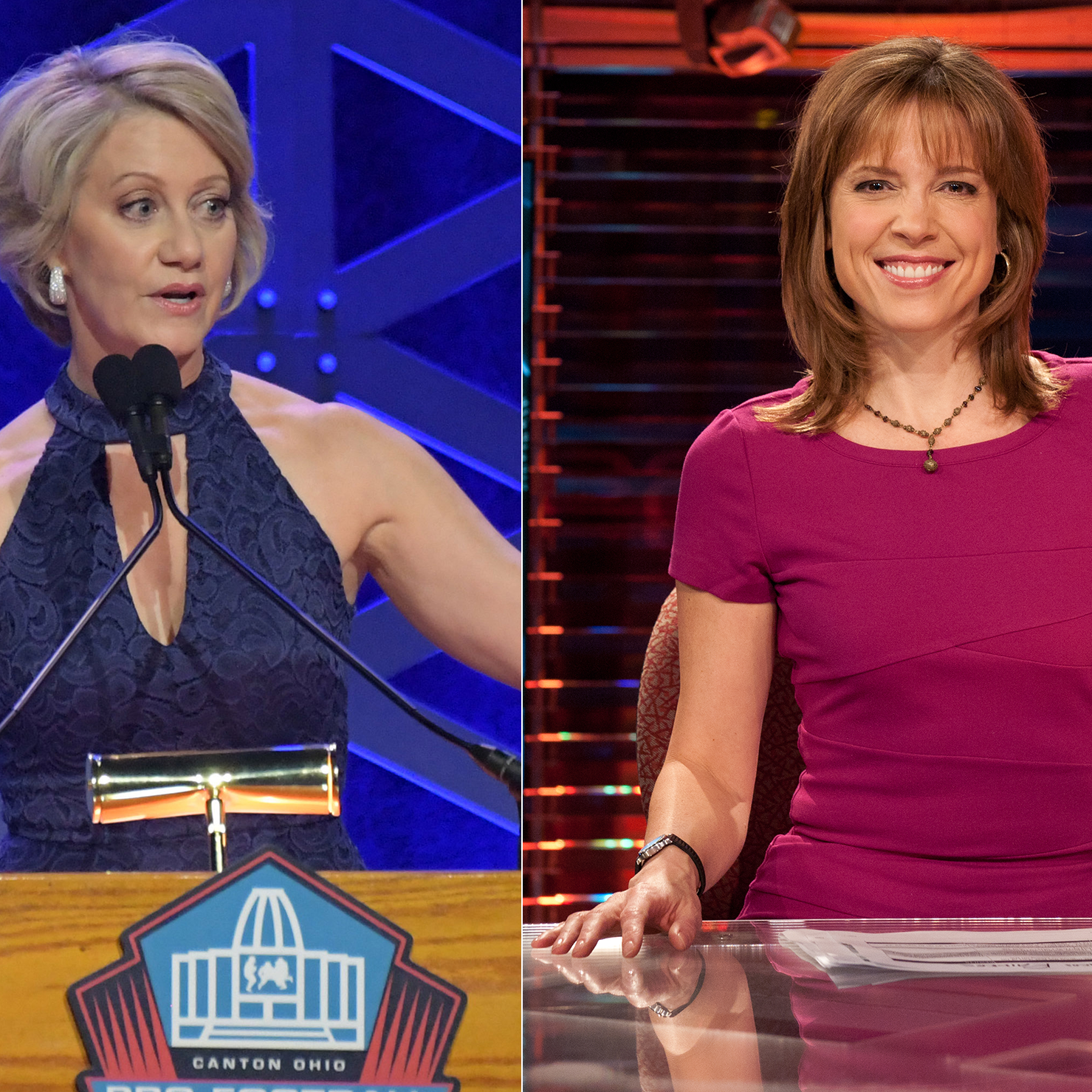 Andrea Kremer (left) and Hannah Storm (right) will be broadcasting Thursday's game between the Rams and Vikings together.