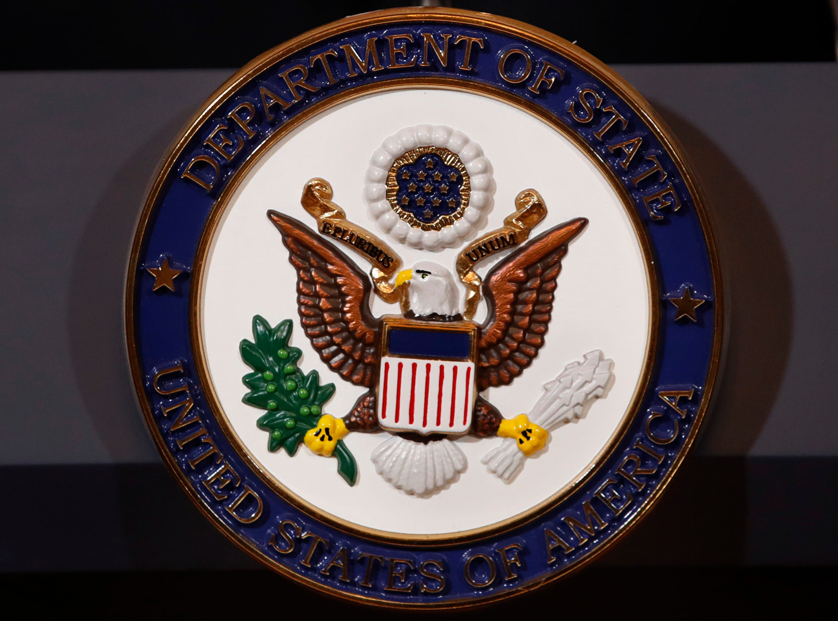 The seal of the State Department