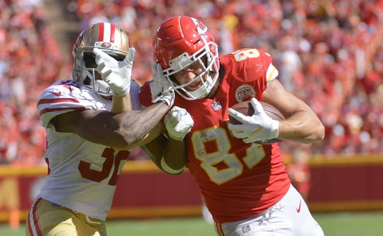 With 16 catches, 229 yards and two touchdowns, Travis Kelce leads all fantasy tight ends after three weeks.