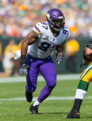 Vikings DE Everson Griffen is in his ninth NFL season.