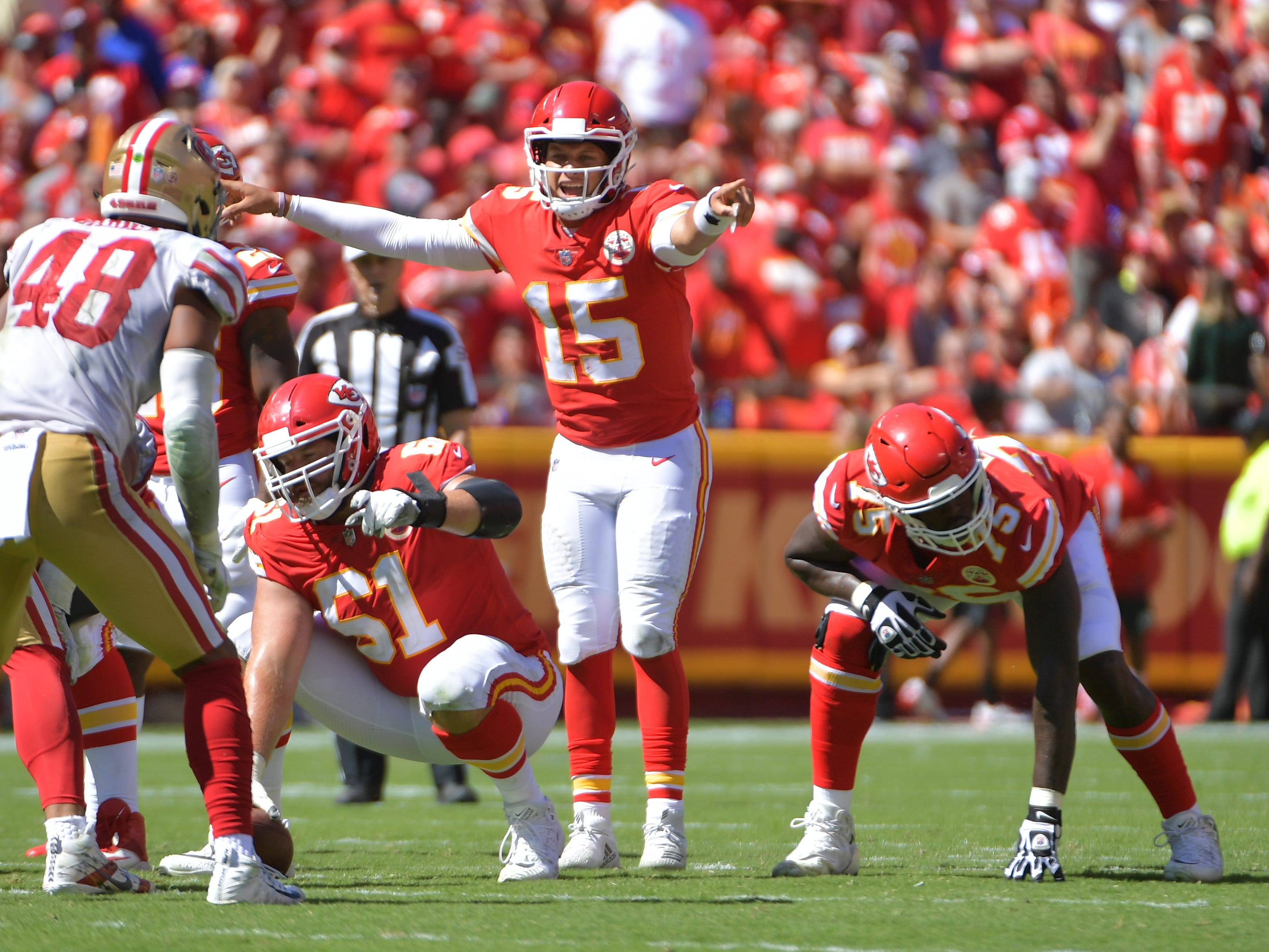 2. Chiefs (3): Patrick Mahomes on pace for record 69 TD passes ... and defense on pace to allow 7,584 yards – over 500 more than any other in history.