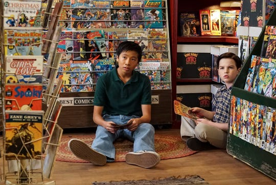 "Tam (Ryan Phuong), left, is the best friend of Sheldon (Iain Armitage) on CBS's ""Young Sheldon."""