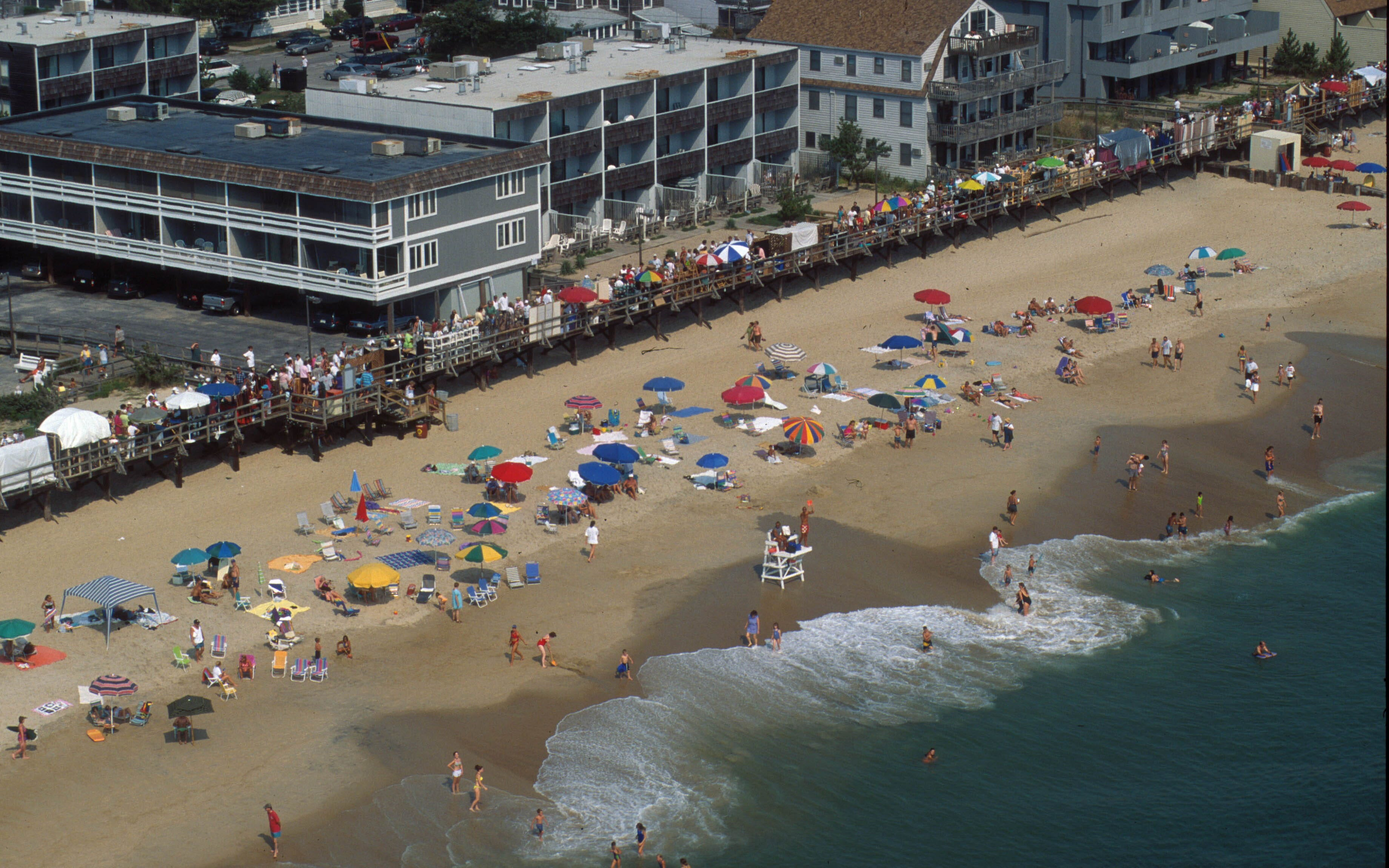 An aerial view of Bethany Beach, Delaware.