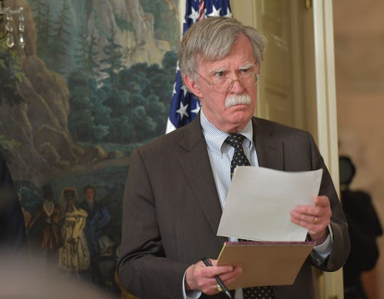 National Security Advisor John Bolton in Washington, DC. April 13, 2018