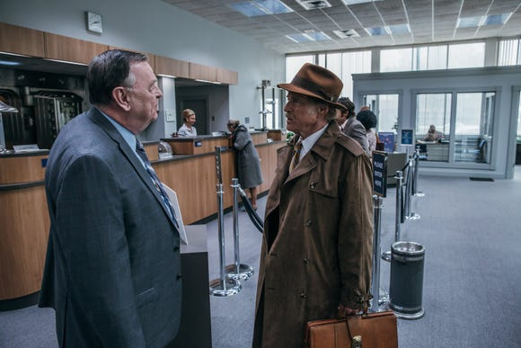 "Forrest (Robert Redford, right, with Gene Jones) has manners when on bank jobs in ""The Old Man & the Gun."""