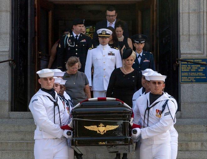 Sen. John McCain's funeral on Sept. 2, 2018, in Annapolis, Maryland.