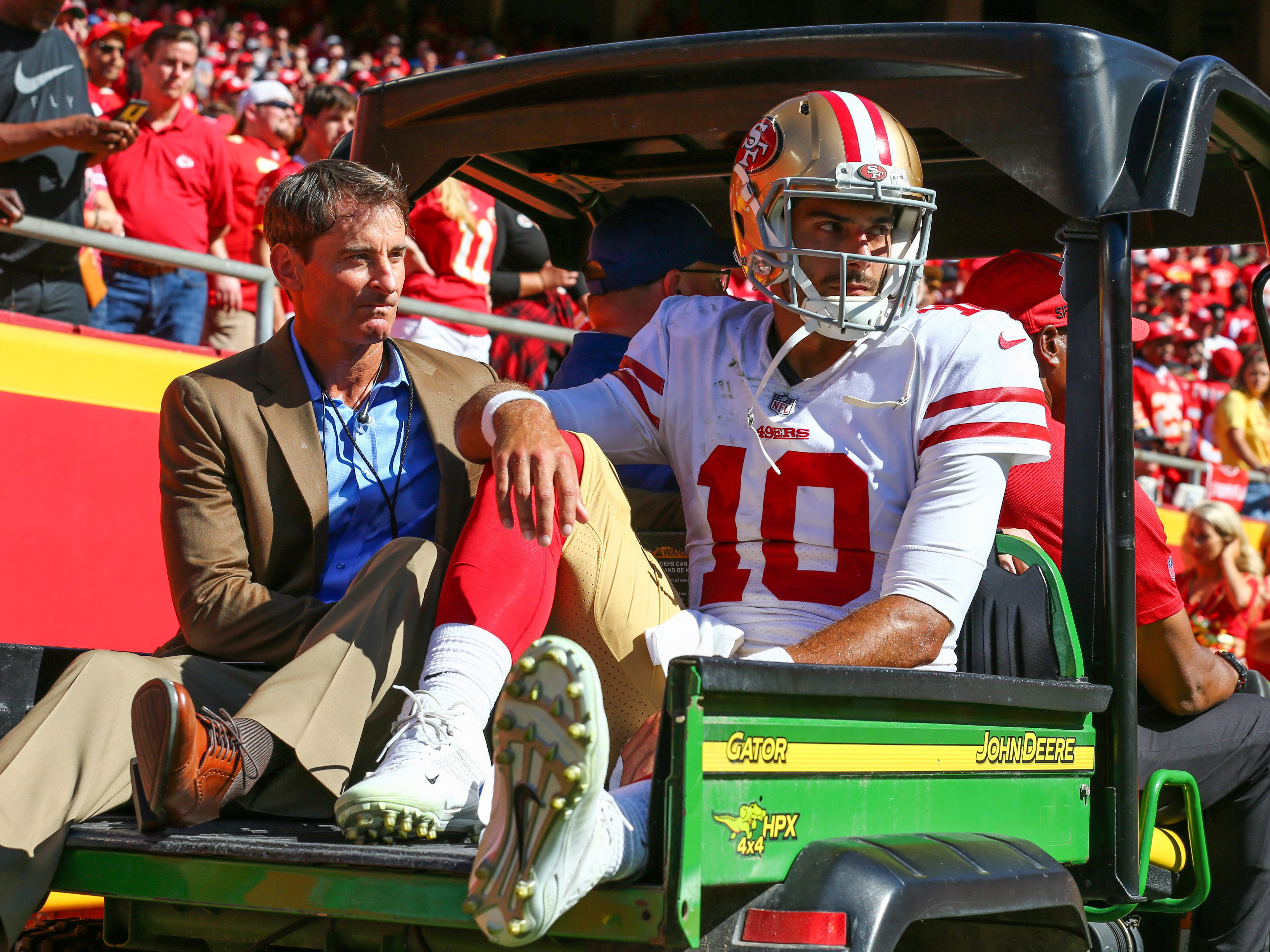 31. 49ers (25): Gold rushers now on pace to extract zero silver linings from this season in wake of Jimmy Garoppolo's devastating knee injury.