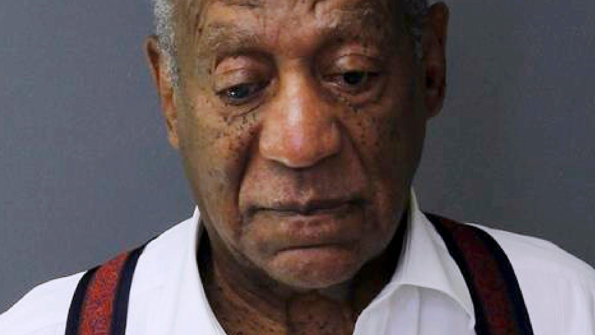 Bill Cosby is seen in a new booking photo taken after he received a 3-to-10 year prison sentence Tuesday.