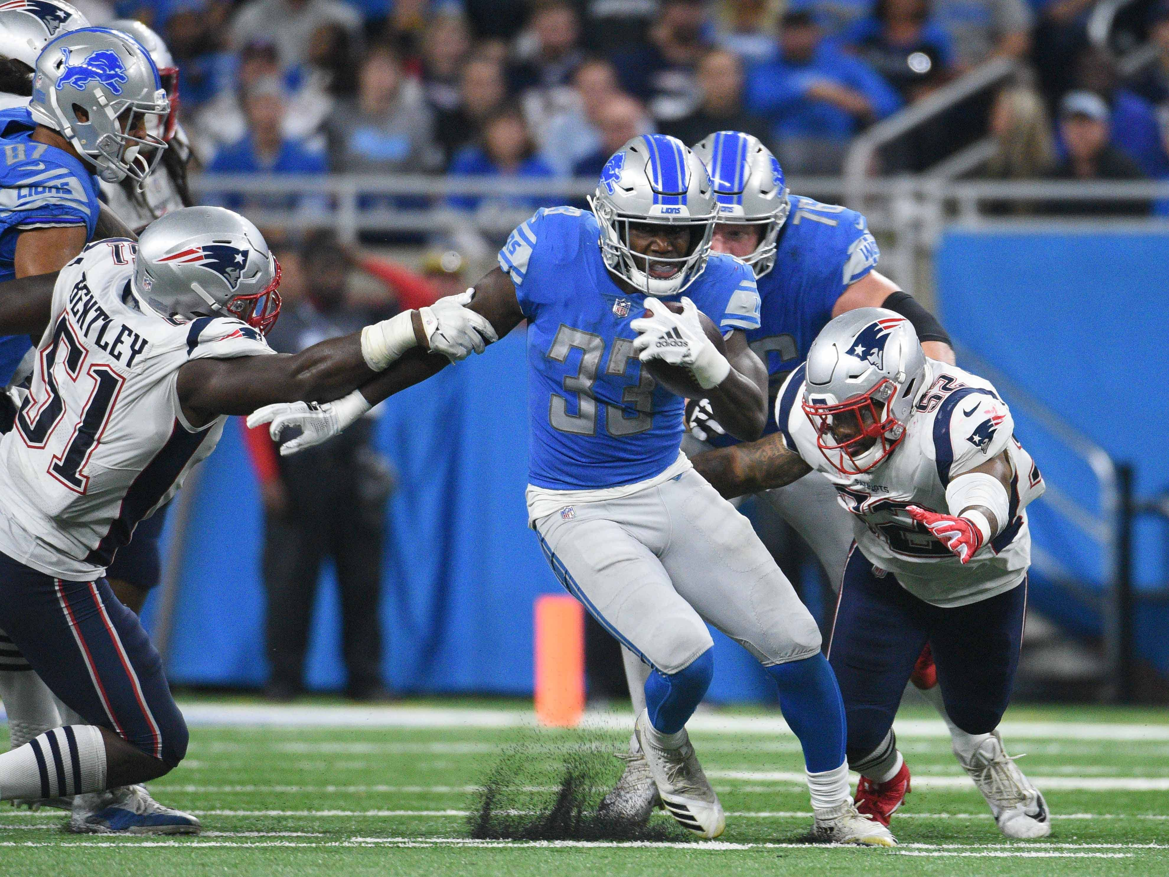 23. Lions (30): On pace to finish middling 16th league-wide in rushing ... yes, it would be their best rank since Barry Sanders' final year in 1998.