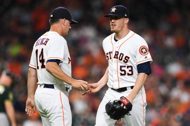 Ken Giles made his last appearance with the Astros on July 10, giving up three runs without recording an out against the Athletics.