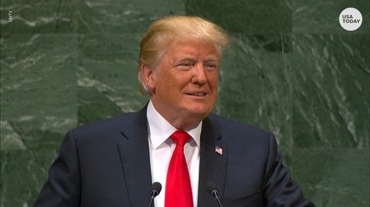 UN General Assembly laughs after Pres. Trump delivers address